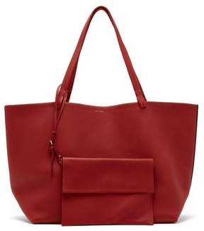 The Row Park Grained Leather Bag - Womens - Red