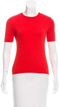 Bill Blass Cashmere & Silk Short Sleeve Sweater