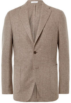 Boglioli Oatmeal Slim-Fit Wool And Cashmere-Blend Blazer