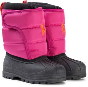 Ralph Lauren Pink and Black Snow Boots