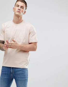 Esprit Dropped Shoulder T-Shirt With Woven Pocket
