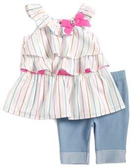 Little Lass Baby Girl's Two-Piece Top and Pants Set