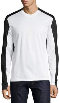 Alexander McQueen Colorblock Long-Sleeve T-Shirt