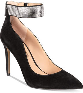 INC International Concepts Women's Kaylynn Ankle-Strap Evening Pumps, Created for Macy's Women's Shoes