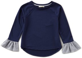 Copper Key Big Girls 7-16 Striped Bell-Sleeve Top