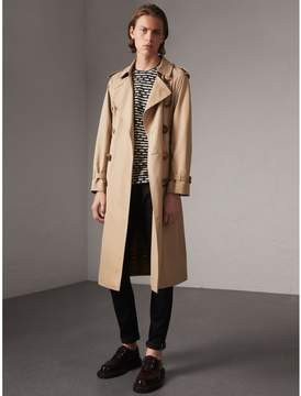 Burberry Bird Button Cotton Gabardine Trench Coat