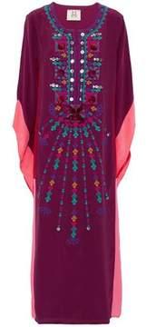 Figue Embellished Silk Crepe De Chine Kaftan