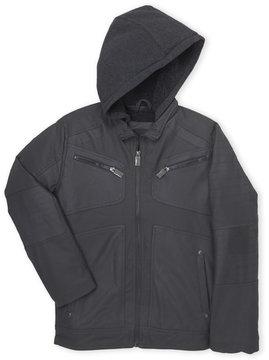 Urban Republic Boys 8-20) Faux Leather Hooded Moto Jacket