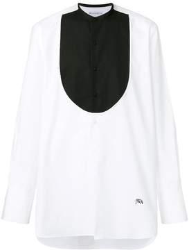J.W.Anderson contrasting bib shirt