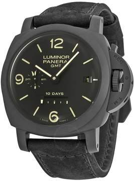 Panerai Luminor 1950 10 Days Black Dial Ceramic Black Leather Men's Watch