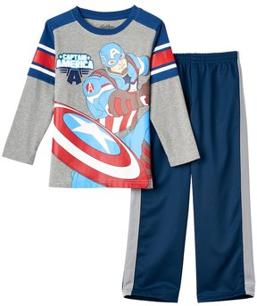 Marvel Toddler Boy Captain America Knit Tee & Pants Set