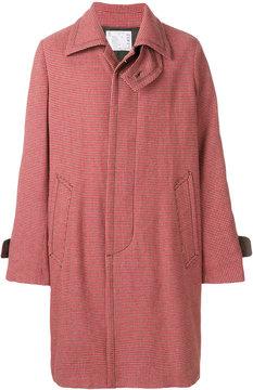 Sacai oversized checked coat