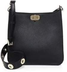 MICHAEL Michael Kors Textured Medium North South Leather Messenger Bag