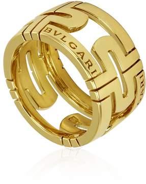 Bvlgari 18 Yellow Gold Parentesi Ring- Size 53 (6 1/2)