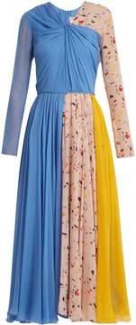 Carolina Herrera V-neck Terazzo-print silk dress