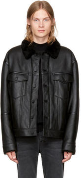 Alexander Wang Black Shearling Jacket