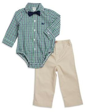 Little Me Baby Boys Two-Piece Checkered Print Cotton Bodysuit and Pants Set