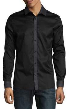 Karl Lagerfeld Embroidered Casual Button-Down Shirt