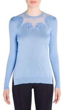 Fendi Rib Knit Embroidered Pullover