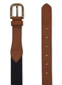 Topman Mens Navy Webbing Belt