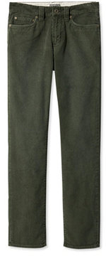 L.L. Bean Signature Washed Corduroy Pants, Slim Straight