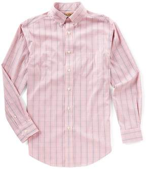 Roundtree & Yorke Gold Label Long-Sleeve Windowpane Sportshirt