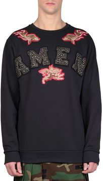 Amen Logo Embroidery Cotton Sweatshirt