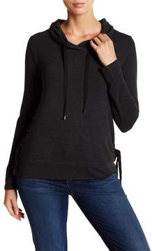 Cable & Gauge Side Grommet Cowl Neck Pullover