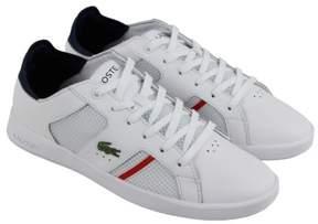 Lacoste Novas Ct 218 1 Spm White Navy Mens Lace Up Sneakers