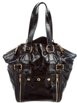 Saint Laurent Patent Leather Downtown Tote - BLACK - STYLE