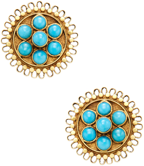 Amrapali Women's 18K Yellow Gold & Turquoise Stud Earrings