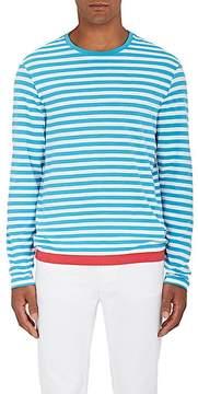 Orlebar Brown Men's Sammy Striped Cotton-Linen Long-Sleeve Shirt