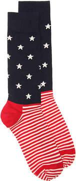 Happy Socks Men's Stars and Stripes Dress Socks