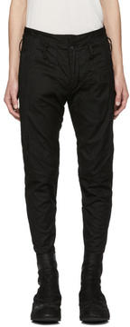 Julius Black Ribbed Trousers