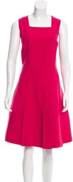 Andrew Gn Wool-Blend Pleated Dress