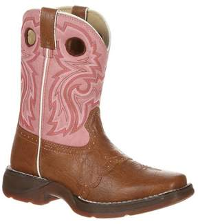 Durango Girls' Saddle Lil' Cowboy Boots - Tan & Pink