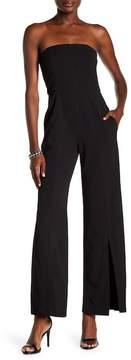 Donna Morgan Strapless Crepe Jumpsuit