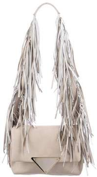 Sara Battaglia Fringe-Trimmed Teresa Shoulder Bag