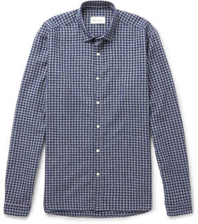 Oliver Spencer Clerkenwell Checked Brushed-Cotton Shirt