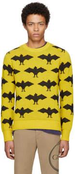 Gucci Yellow and Black Jacquard Bat Sweater