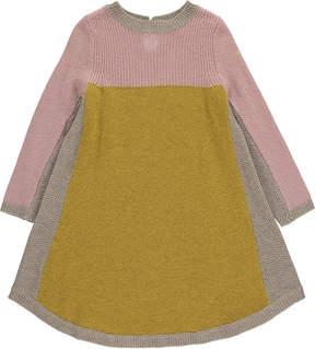 Caramel Applebey Tricolour Angora Cashmere Wool Dress