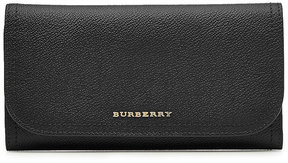 Burberry Leather Wallet - BLACK - STYLE
