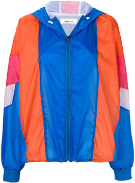 Circus Hotel contrast panel rain jacket