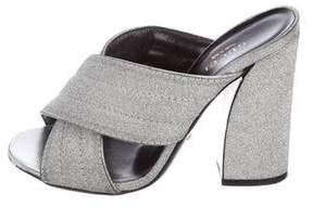 Gucci Webby Glitter Slide Sandals