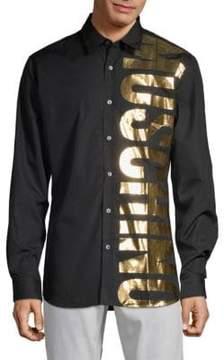 Moschino Logo Cotton Button-Down Shirt
