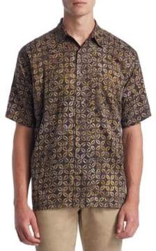 Saks Fifth Avenue COLLECTION Coffee Bean Cotton Button-Down Shirt