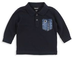 Diesel Baby's Long-Sleeve Cotton Polo