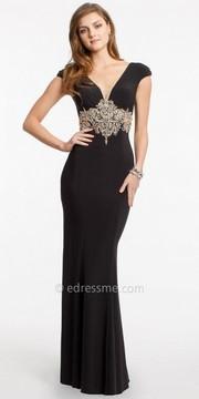 Camille La Vie Jersey Beaded Evening Dress