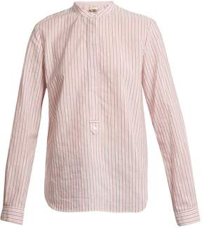 Vanessa Bruno Mandarin collar striped cotton shirt