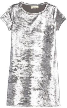 Tucker + Tate Girl's Metallic Velour Sneaker Dress